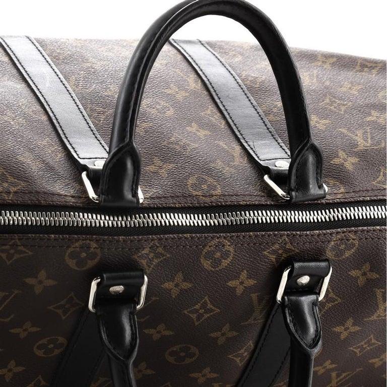 Louis Vuitton Keepall Bandouliere Bag Macassar Monogram Canvas 45 2