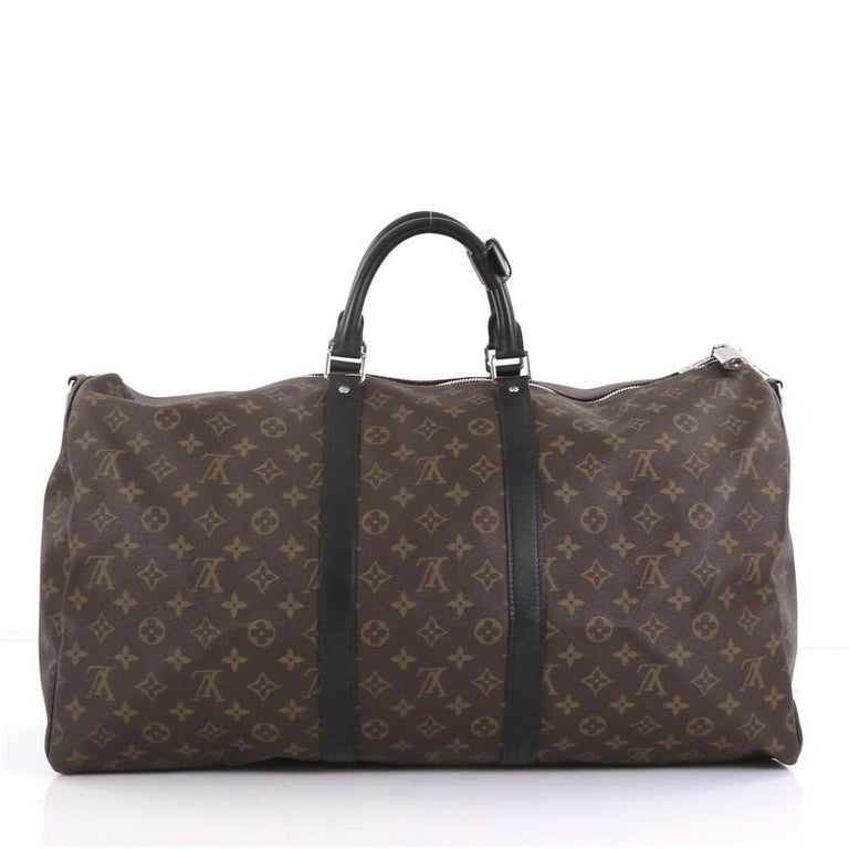 36f82ef6ccea Louis Vuitton Keepall Bandouliere Bag Macassar Monogram Canvas 55 In Good  Condition For Sale In New