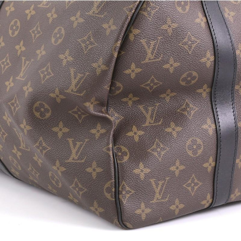 03b8a5812390 Louis Vuitton Keepall Bandouliere Bag Macassar Monogram Canvas 55 For Sale  at 1stdibs