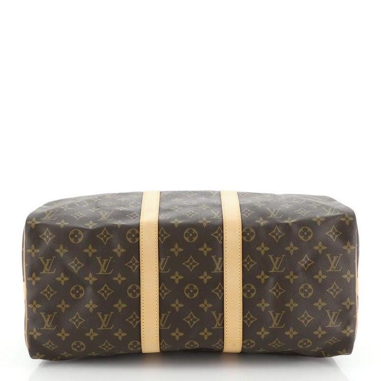 Women's or Men's Louis Vuitton Keepall Bandouliere Bag Monogram Canvas 45 For Sale