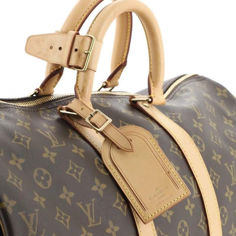 Louis Vuitton Keepall Bandouliere Bag Monogram Canvas 45 For Sale 2