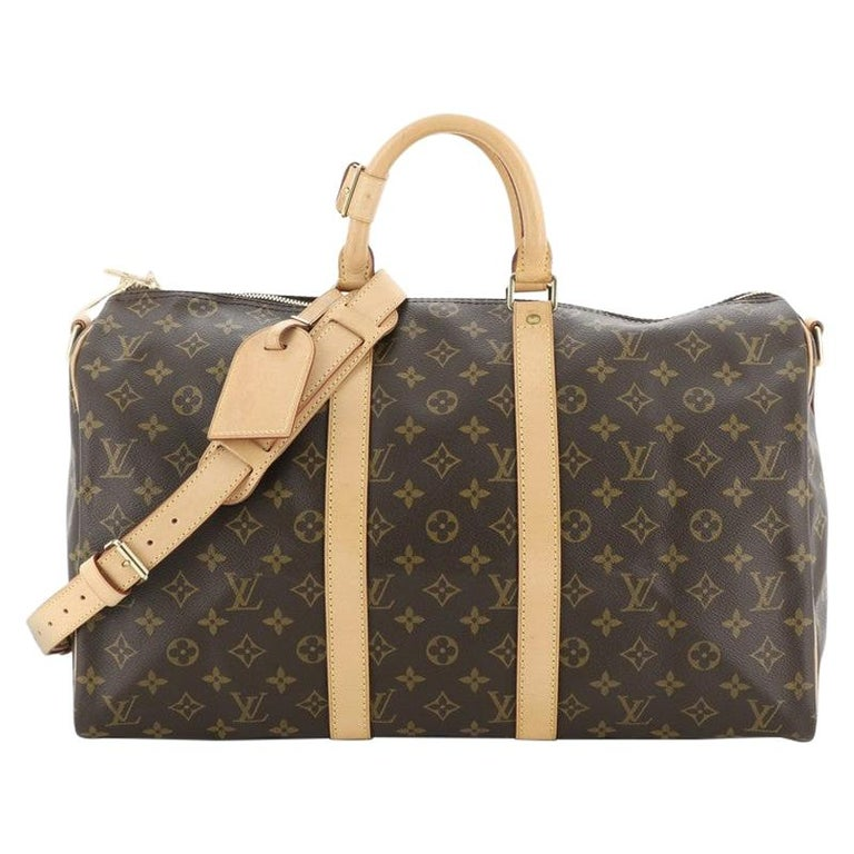 Louis Vuitton Keepall Bandouliere Bag Monogram Canvas 45 For Sale