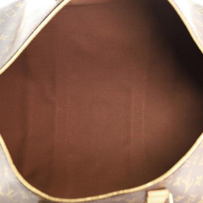 Women's or Men's Louis Vuitton Keepall Bandouliere Bag Monogram Canvas 50 For Sale