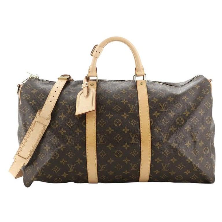 Louis Vuitton Keepall Bandouliere Bag Monogram Canvas 50 For Sale