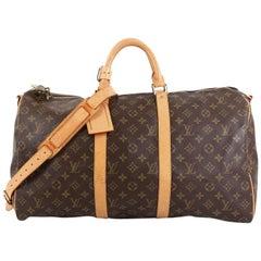 Louis Vuitton Keepall Bandouliere Bag Monogram Canvas 50