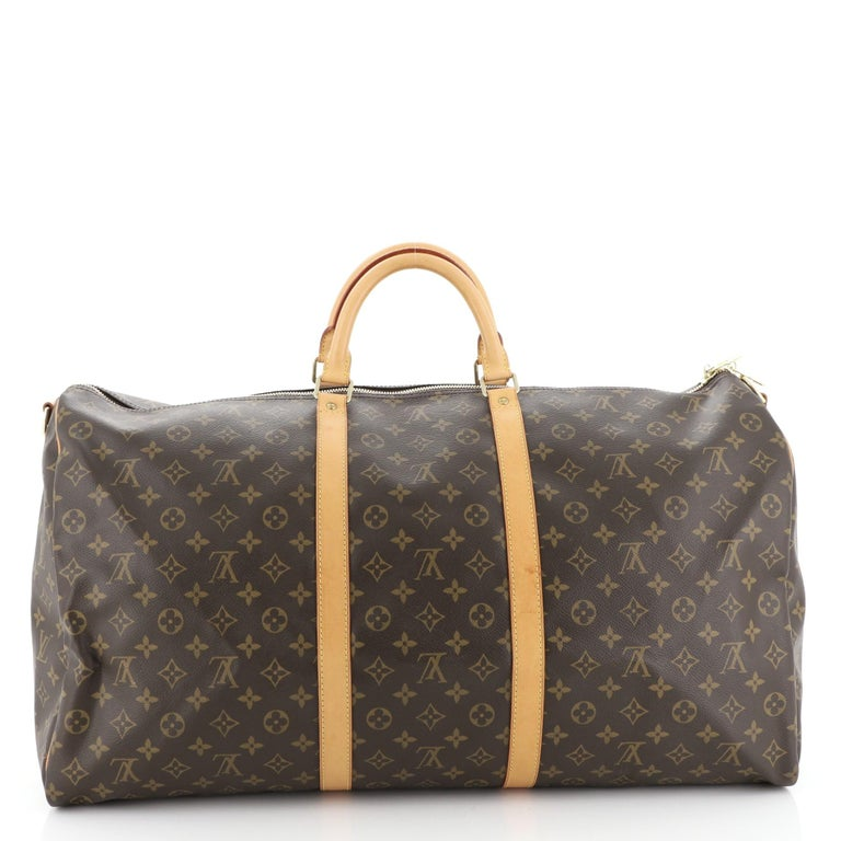 Louis Vuitton Keepall Bandouliere Bag Monogram Canvas 60 In Good Condition For Sale In New York, NY
