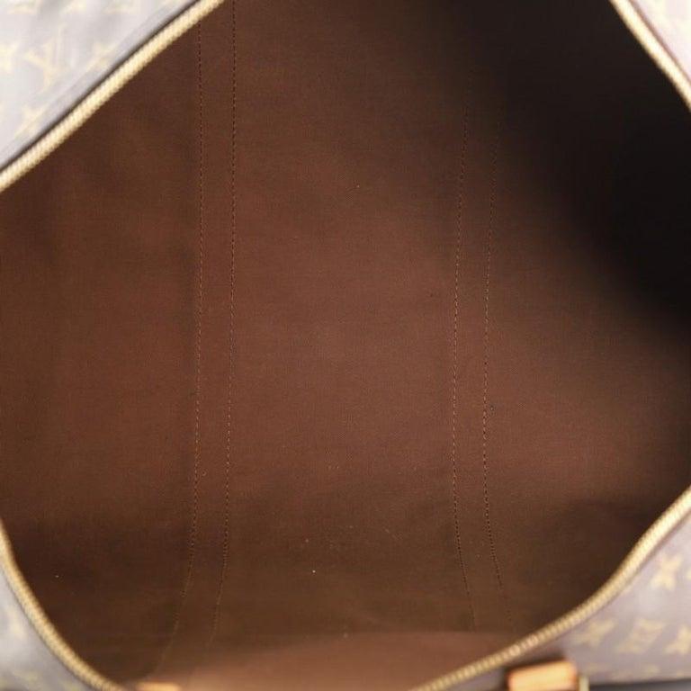 Women's or Men's Louis Vuitton Keepall Bandouliere Bag Monogram Canvas 60 For Sale