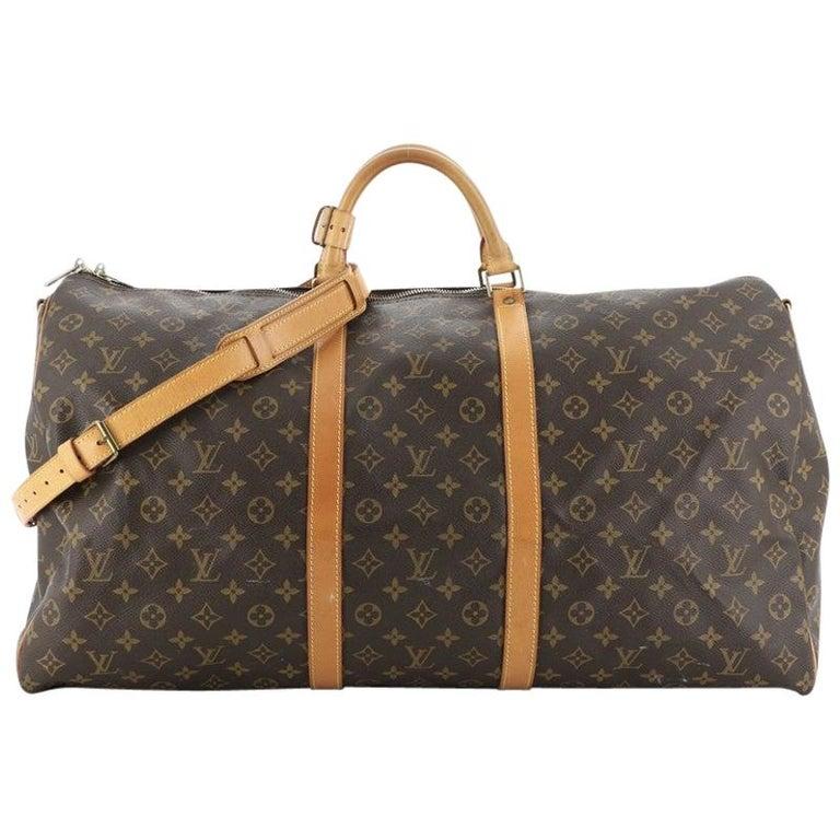 Louis Vuitton Keepall Bandouliere Bag Monogram Canvas 60 For Sale