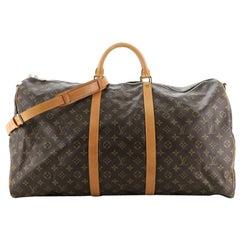 Louis Vuitton Keepall Bandouliere Bag Monogram Canvas 60