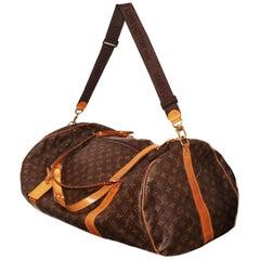 Louis Vuitton Keepall Bandouliere Bag Monogram Canvas 65 cross double handles
