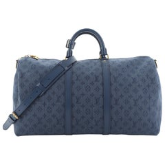 Louis Vuitton Keepall Bandouliere Bag Monogram Denim 50