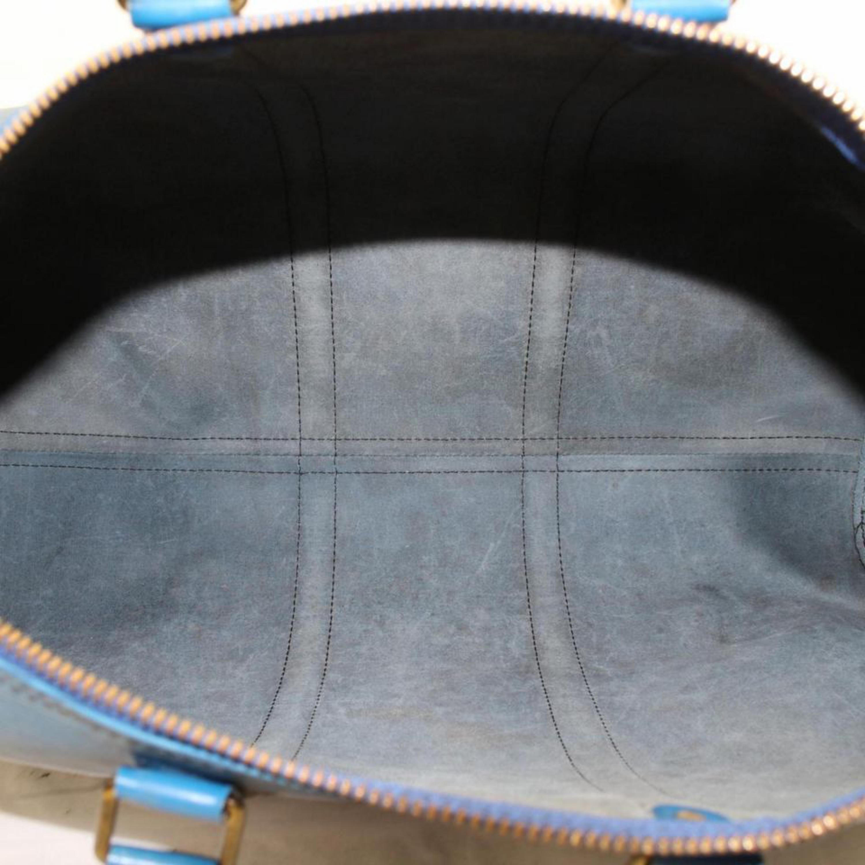 4120ea2ee418 Louis Vuitton Keepall Duffle Epi Toledo 45 869483 Blue Leather Weekend  Travel Ba at 1stdibs