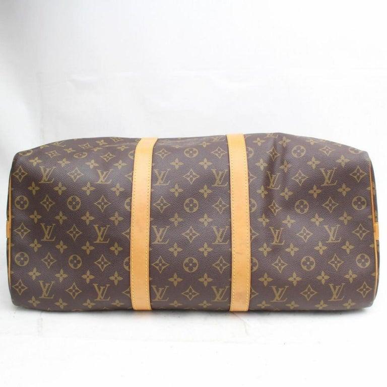 d579e7686e98 Louis Vuitton Keepall Duffle Monogram Bandouliere 50 869035 Weekend Travel  Bag For Sale 4