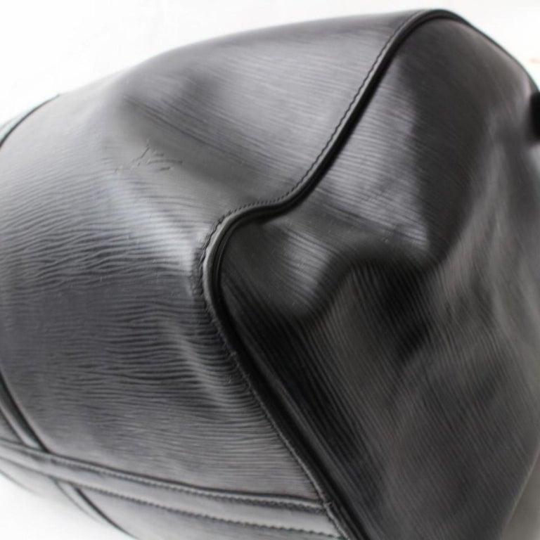 cc0cd664e3b1 Louis Vuitton Keepall Duffle Noir 50 869589 Black Leather Weekend Travel Bag  For Sale 7