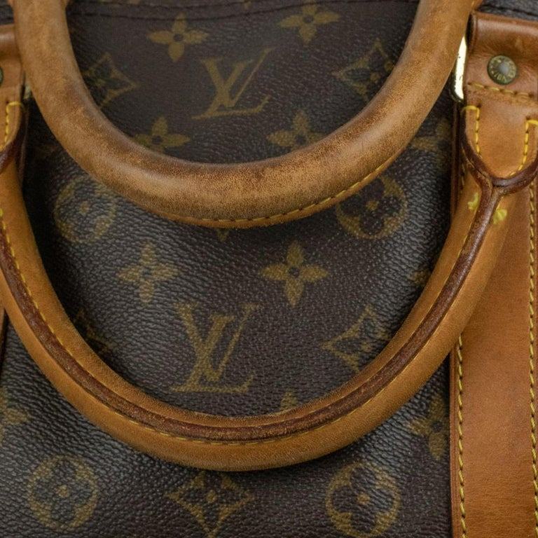 Louis Vuitton, Keepall in brown canvas 8