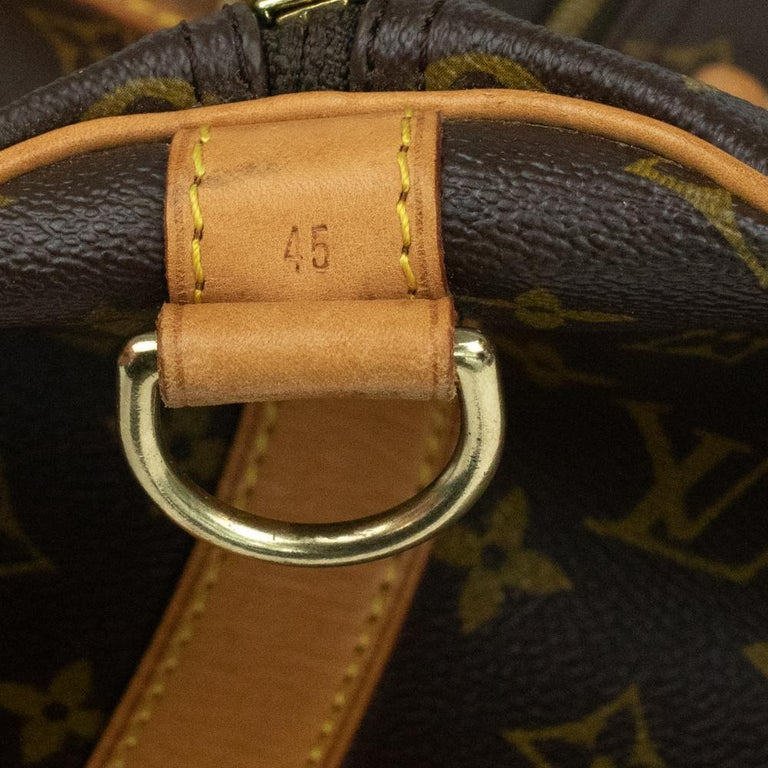 Louis Vuitton, Keepall in brown canvas 12