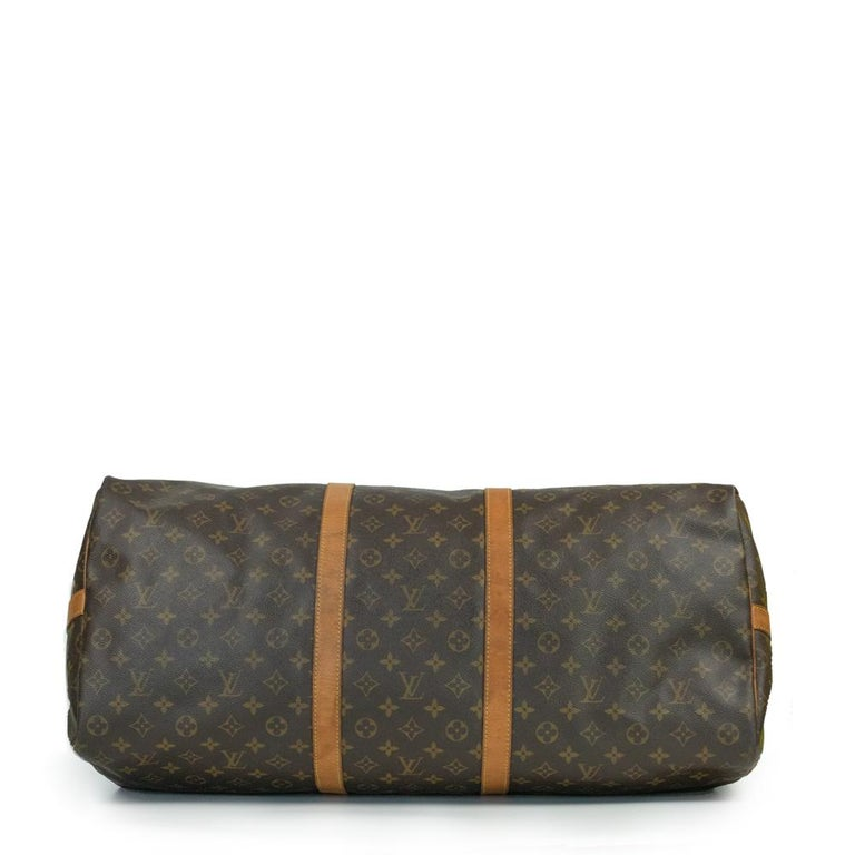 Louis Vuitton, Keepall in brown canvas In Good Condition In Clichy, FR