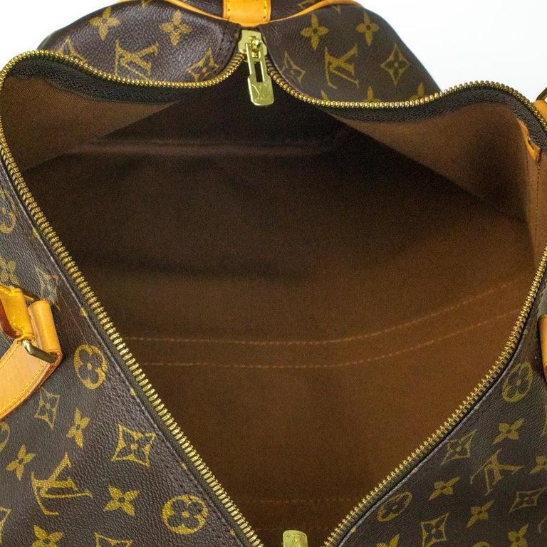 Women's Louis Vuitton, Keepall in brown canvas