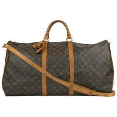 Louis Vuitton, Keepall in brown canvas