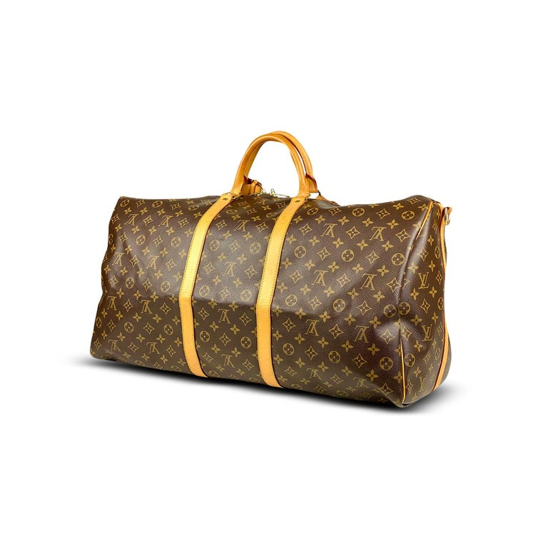 Louis Vuitton Keepall Monogram Bandoulière 60 In Good Condition For Sale In Sundbyberg, SE