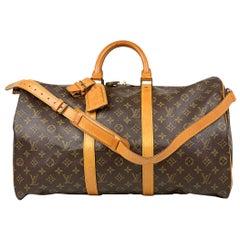 Louis Vuitton Keepall Monogram Brown Bandoulière 50