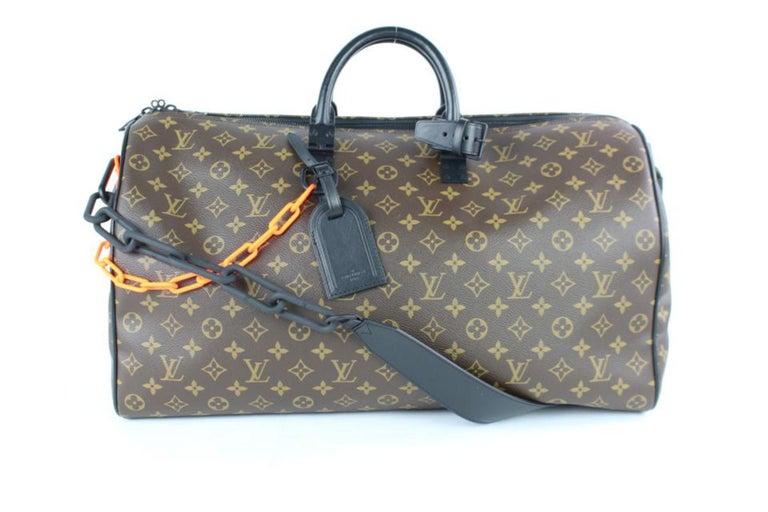 56dce153ac3a Louis Vuitton Keepall Runway Virgil Abloh Ss19 Monogram Chain Bandouliere 50  3lz For Sale 6
