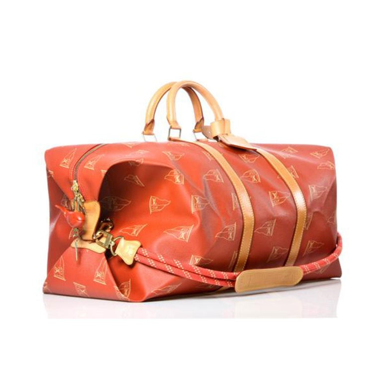 Brown Louis Vuitton Keepall Sailing Boating Duffel Rare Limited Edition Bag For Sale