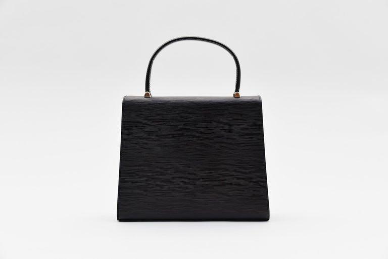 Black Louis Vuitton Kelly Bag Vintage Epi Leather  For Sale