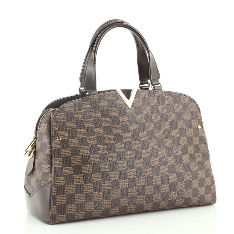 Gray Louis Vuitton Kensington Bowling Bag Damier