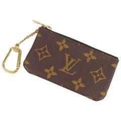 LOUIS VUITTON key chain  Pochette Cle unisex coin case M62650