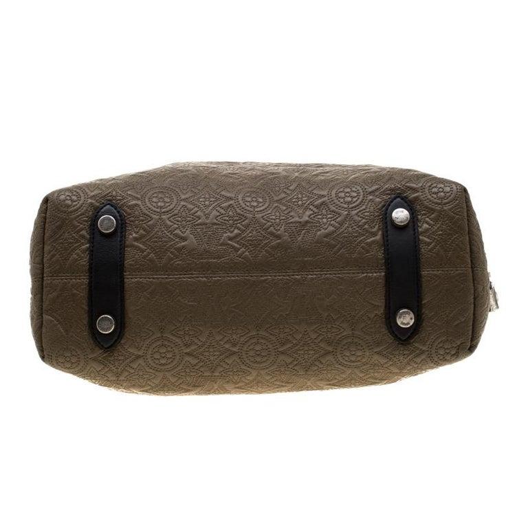 Louis Vuitton Khaki Monogram Antheia Leather Hobo PM Bag For Sale 5