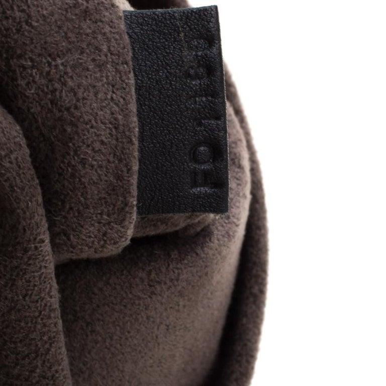 Women's Louis Vuitton Khaki Monogram Antheia Leather Hobo PM Bag For Sale