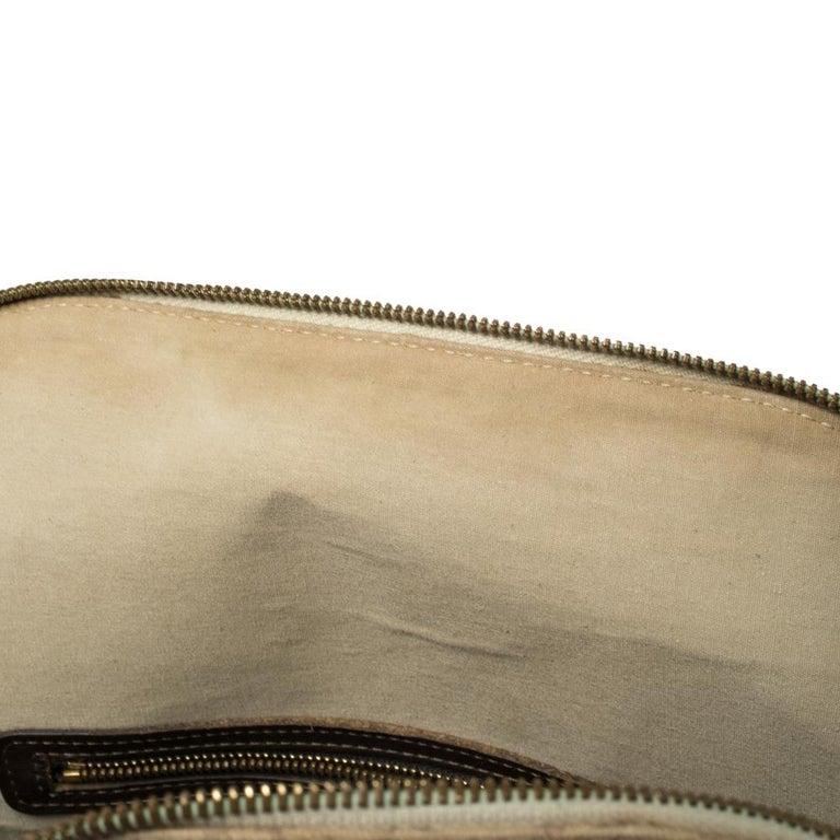 Women's Louis Vuitton Khaki Monogram Mini Lin Canvas Alma Haut Bag For Sale