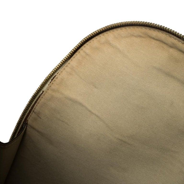 Louis Vuitton Khaki Monogram Mini Lin Canvas Alma Haut Bag For Sale 2