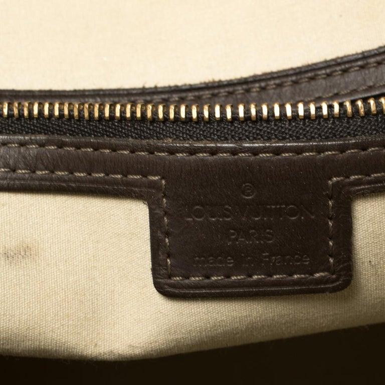 Louis Vuitton Khaki Monogram Mini Lin Canvas Alma Haut Bag For Sale 3