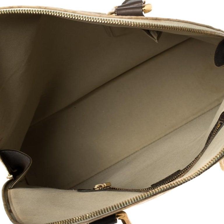 Louis Vuitton Khaki Monogram Mini Lin Canvas Alma Haut Bag For Sale 6