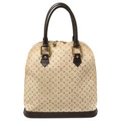 Louis Vuitton Khaki Monogram Mini Lin Canvas Alma Haut Bag