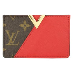 Louis Vuitton Kimono Card Holder Monogram Canvas Cerise Calfskin w/GHW 2016