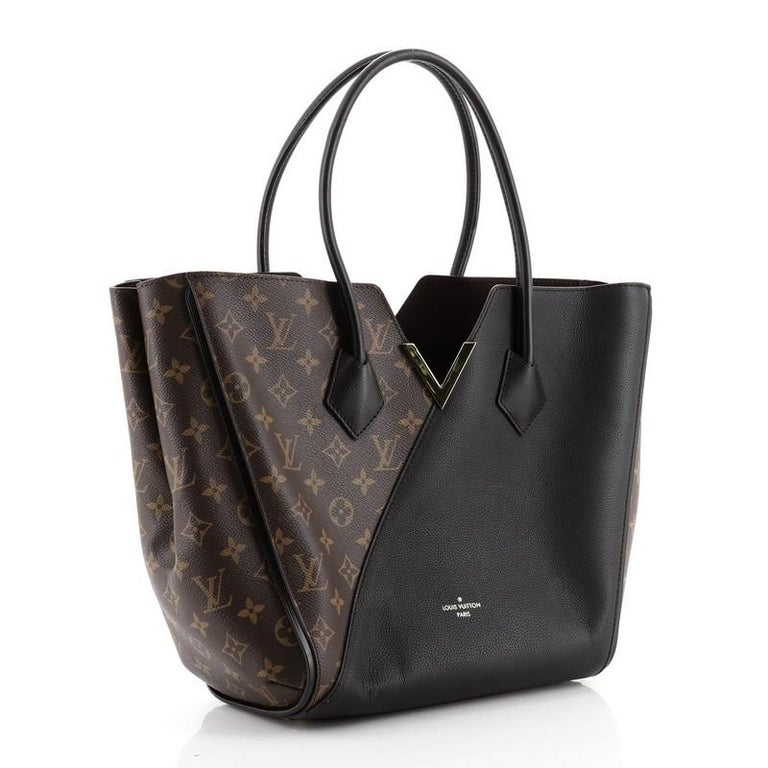 Louis Vuitton Kimono Handbag Monogram Canvas and Leather MM In Good Condition For Sale In New York, NY
