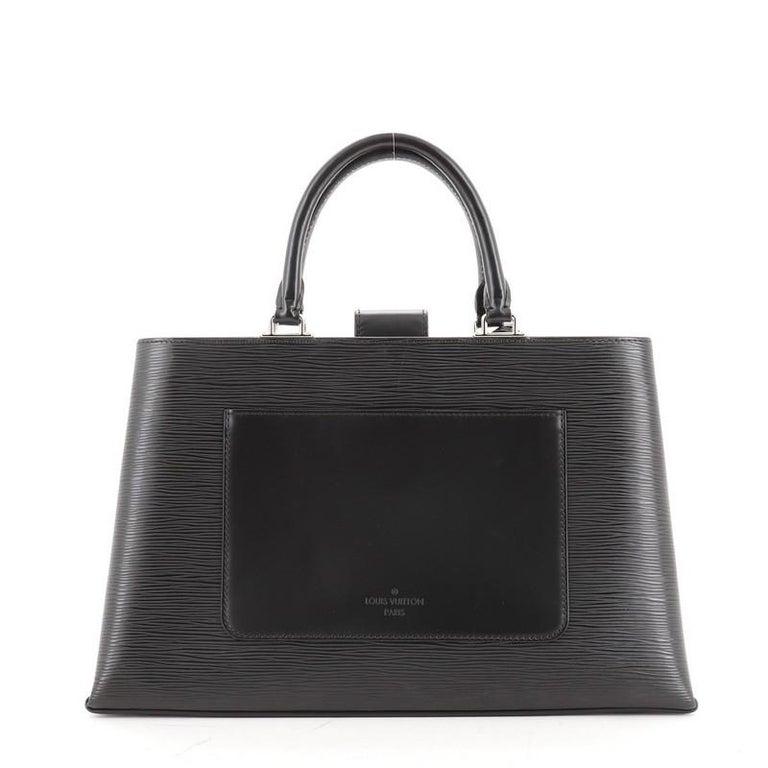 Black Louis Vuitton Kleber Handbag Epi Leather MM For Sale