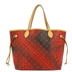 Louis Vuitton Kusama Red Monogram Neverfull MM Sprouse Carryall Travel Tote Bag