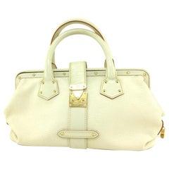 Louis Vuitton L Suhali L'ingenieux Pm Blanc 111924 White Leather Satchel