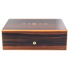 Louis Vuitton Lacquer Wood Desk Men's Cigar Cigarette Humidor Storage Case Box