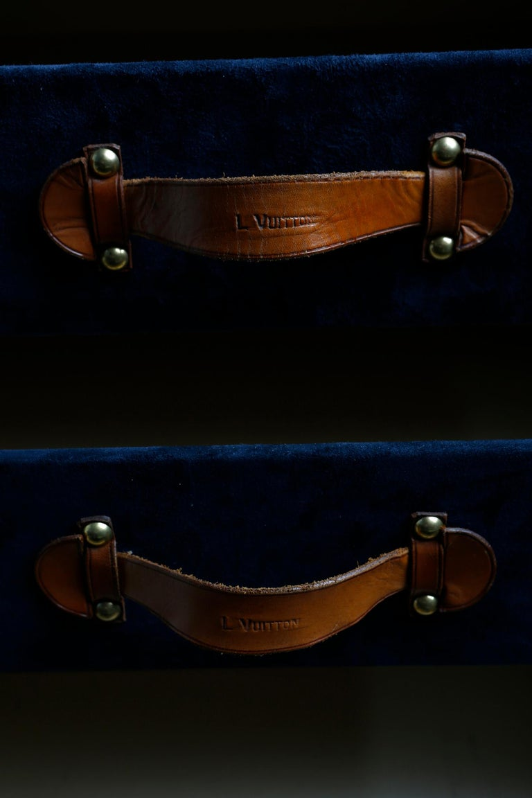 Louis Vuitton Ladies Lingerie Desk Trunk in Orange with Mahogany Finish, 1914 For Sale 9