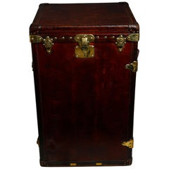 Louis Vuitton Ladies Lingerie Desk Trunk in Orange with Mahogany Finish, 1914