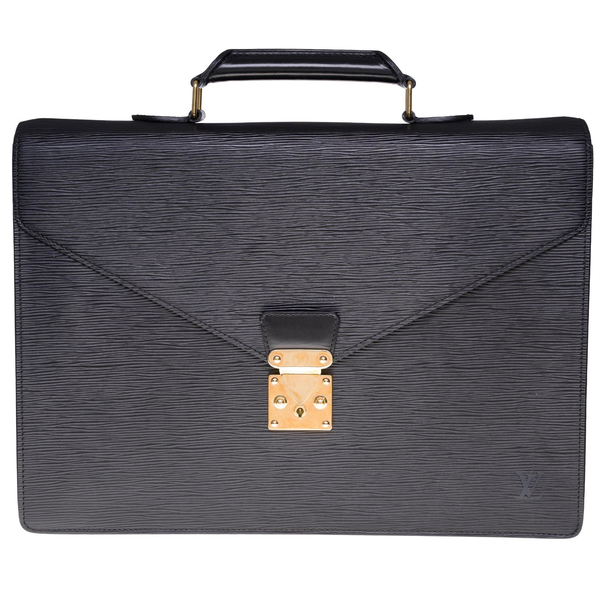 """Louis Vuitton """"Laguito"""" Satchel in grey Taïga leather and silver hardware"""