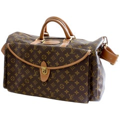 Louis Vuitton Large Duffel Bag Overnight Travel Keepall Rare French Co w/Strap