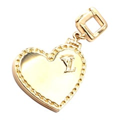 Louis Vuitton Large Heart Locket Yellow Gold Charm Pendant