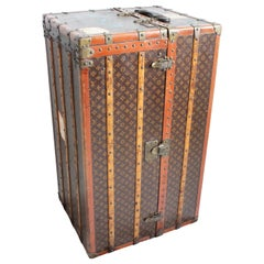 Louis Vuitton Large Wardrobe Steamer Trunk Monogram Travel Case Early 20th C