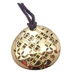 Louis Vuitton Large Yellow Gold Pendant Necklace